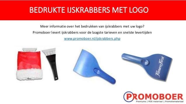 BEDRUKTE IJSKRABBERS MET LOGO Meer informatie over het bedrukken van ijskrabbers met uw logo? Promoboer levert ijskrabbers...
