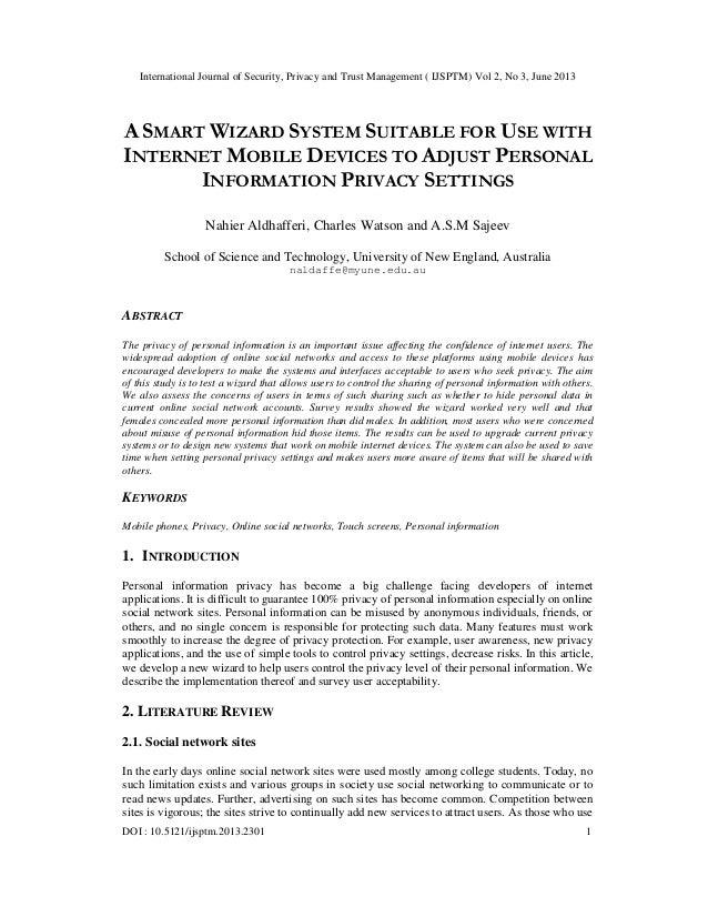 International Journal of Security, Privacy and Trust Management ( IJSPTM) Vol 2, No 3, June 2013 DOI : 10.5121/ijsptm.2013...
