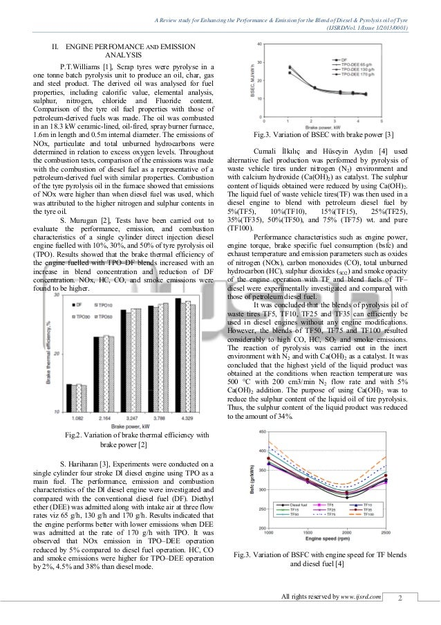 A Review study for Enhancing the Performance & Emission