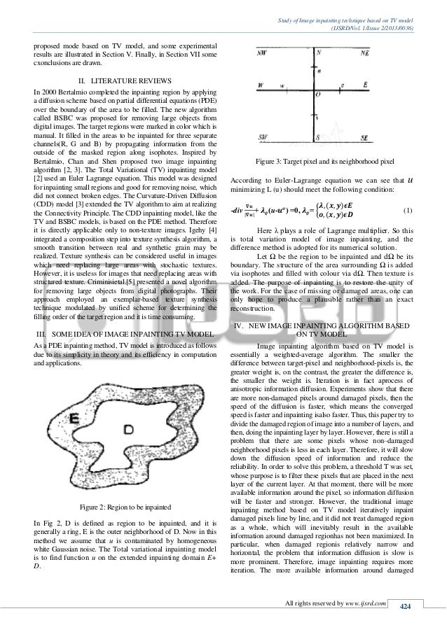 image inpainting thesis All the scripts provided are used in partial differential equation methods for image inpainting  manifolds using partial differential equationsphd thesis, 2001 .