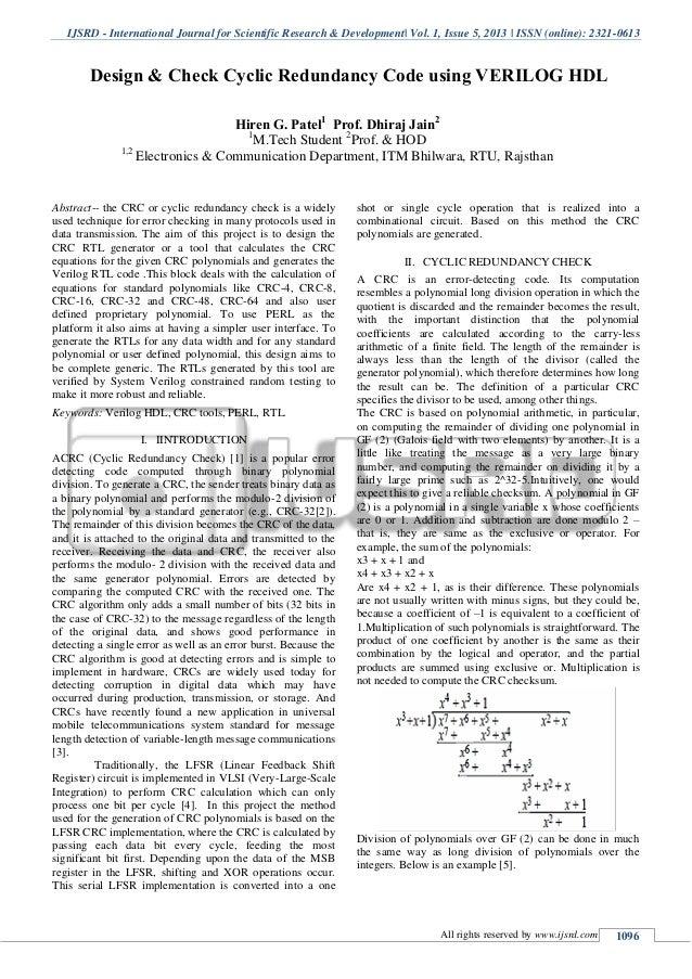 IJSRD - International Journal for Scientific Research & Development| Vol. 1, Issue 5, 2013 | ISSN (online): 2321-0613 All ...