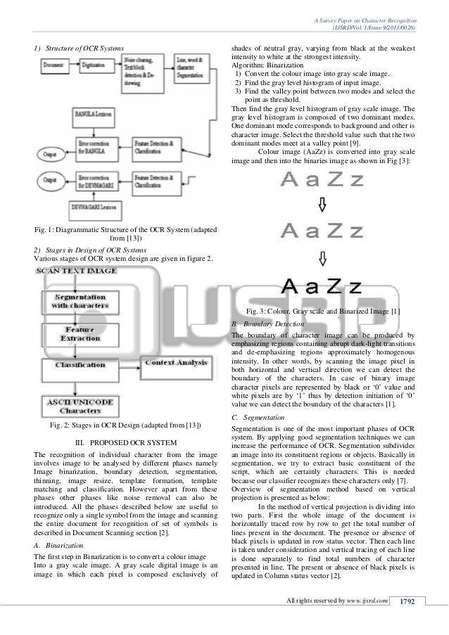 thesis on character recognition system An input to an optical character recognition system where information is acquired and retained in digitized form g optical music recognition.