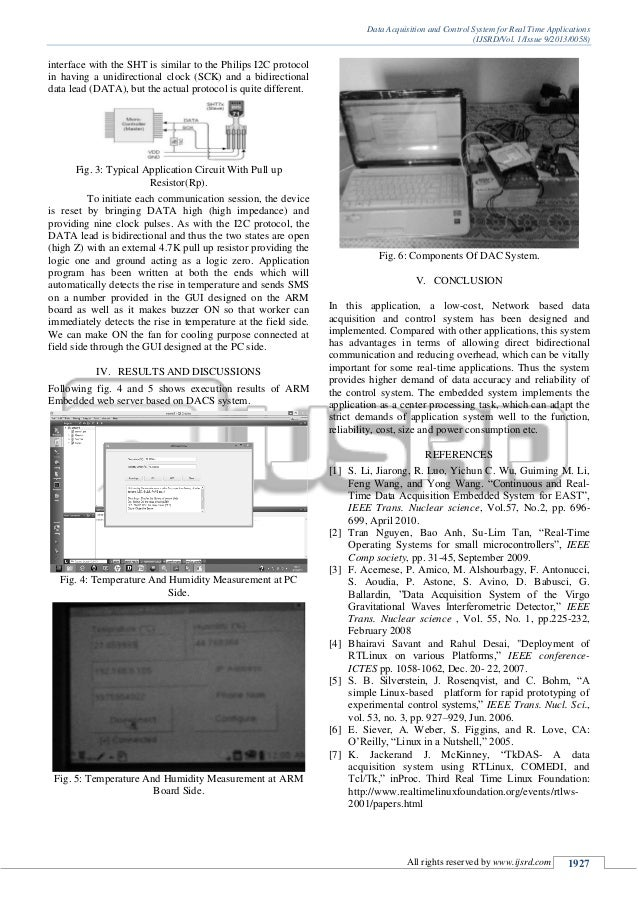 Data Acquisition And Control System : Data acquisition and control system for real time applications