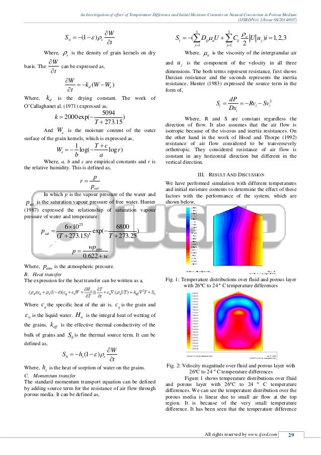 Investigation of effect of temperature on
