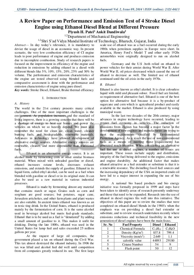 research paper on ethanol production With a rapid increase in ethanol production, more extensive researches on ethanol have done recently in this paper, the current ethanol production, purification, and analysis techniques are.
