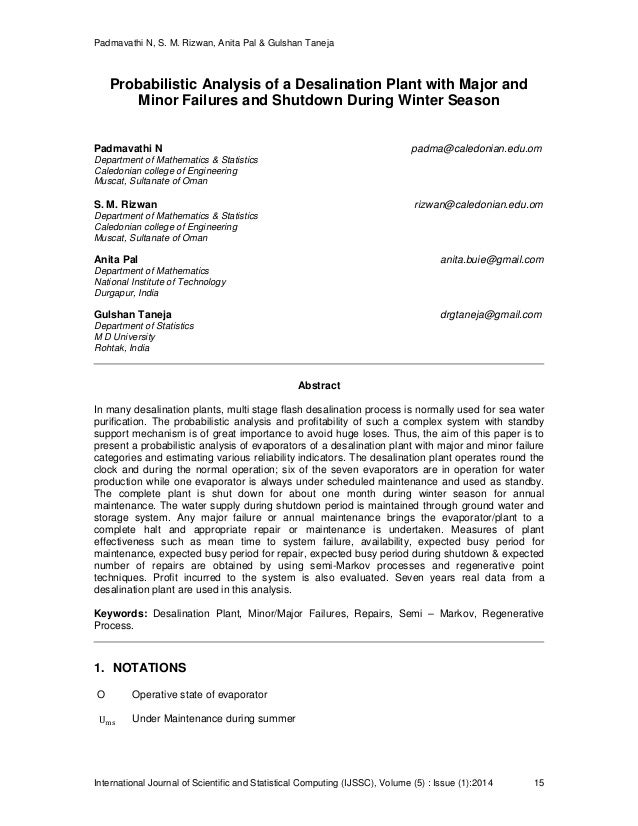 Padmavathi N, S. M. Rizwan, Anita Pal & Gulshan Taneja International Journal of Scientific and Statistical Computing (IJSS...