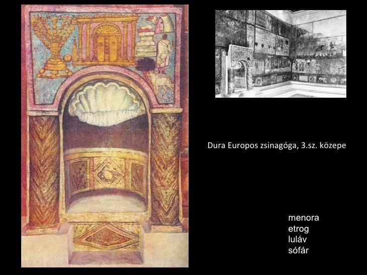 Dura Europos zsinagóga, 3.sz. közepe menora etrog luláv sófár
