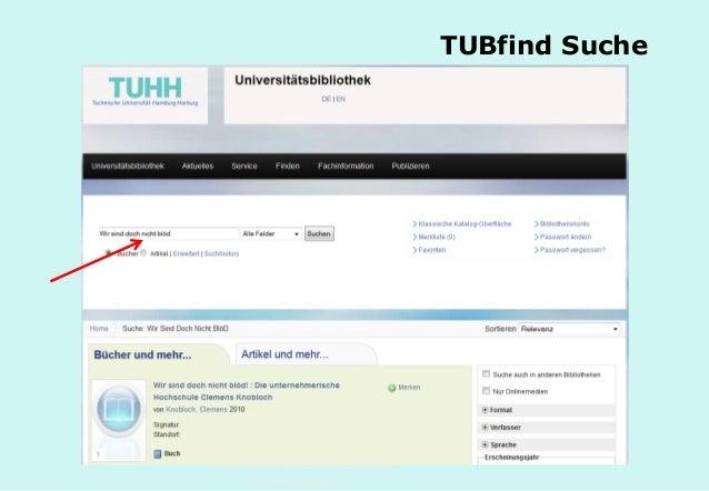 Technische Universität Hamburg-Harburg www.tub.tu-harburg.de TUBfind Suche