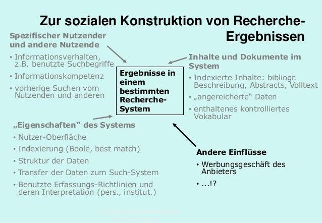 Technische Universität Hamburg-Harburg www.tub.tu-harburg.de Zur sozialen Konstruktion von Recherche- Ergebnissen Ergebnis...