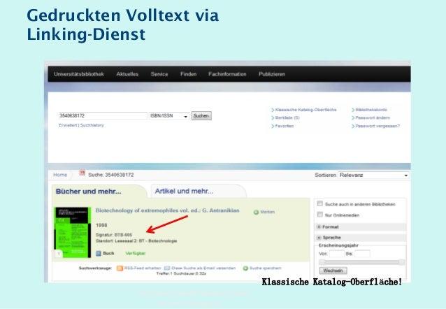 Technische Universität Hamburg-Harburg www.tub.tu-harburg.de Gedruckten Volltext via Linking-Dienst Klassische Katalog-Obe...