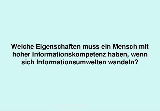 Technische Universität Hamburg-Harburg www.tub.tu-harburg.de Welche Eigenschaften muss ein Mensch mit hoher Informationsko...
