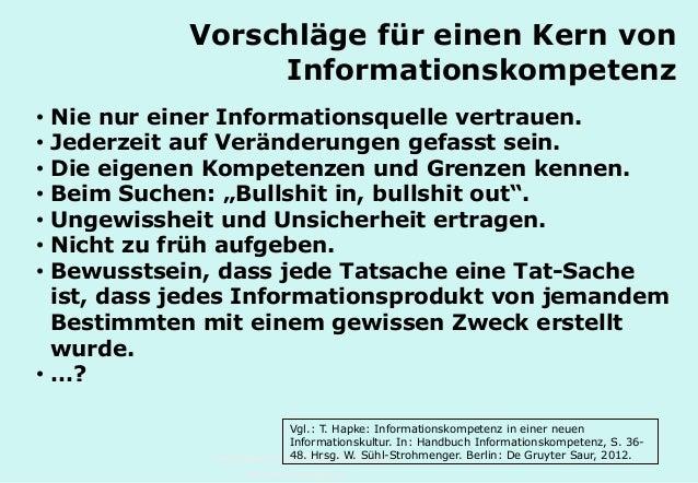 Technische Universität Hamburg-Harburg www.tub.tu-harburg.de Vorschläge für einen Kern von Informationskompetenz • Nie nur...
