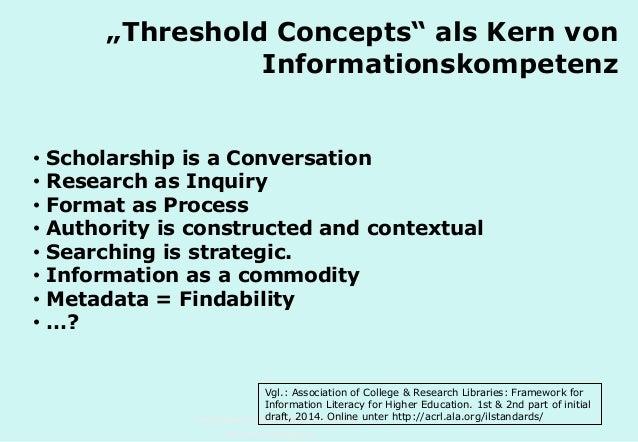 """Technische Universität Hamburg-Harburg www.tub.tu-harburg.de """"Threshold Concepts"""" als Kern von Informationskompetenz • Sch..."""