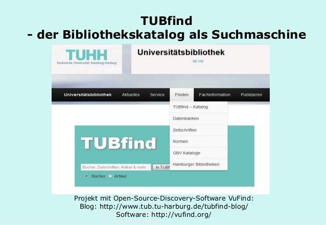 Technische Universität Hamburg-Harburg www.tub.tu-harburg.de TUBfind - der Bibliothekskatalog als Suchmaschine Projekt mit...