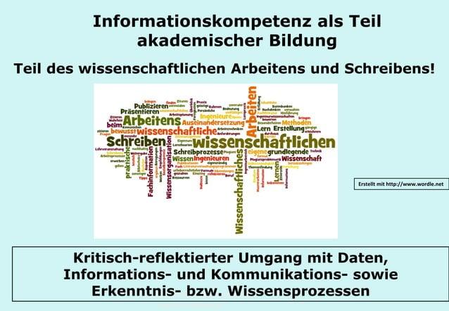 Technische Universität Hamburg-Harburg www.tub.tu-harburg.de Informationskompetenz als Teil akademischer Bildung Teil des ...