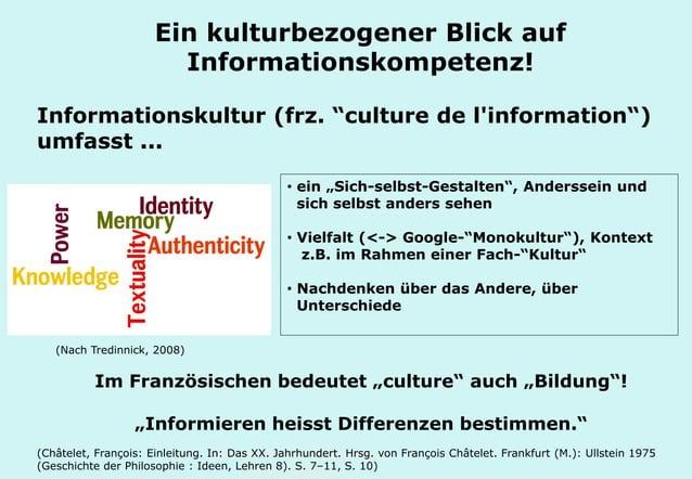 """Technische Universität Hamburg-Harburg www.tub.tu-harburg.de Informationskultur (frz. """"culture de l'information"""") umfasst ..."""