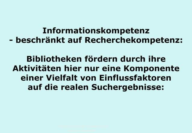 Technische Universität Hamburg-Harburg www.tub.tu-harburg.de Informationskompetenz - beschränkt auf Recherchekompetenz: Bi...