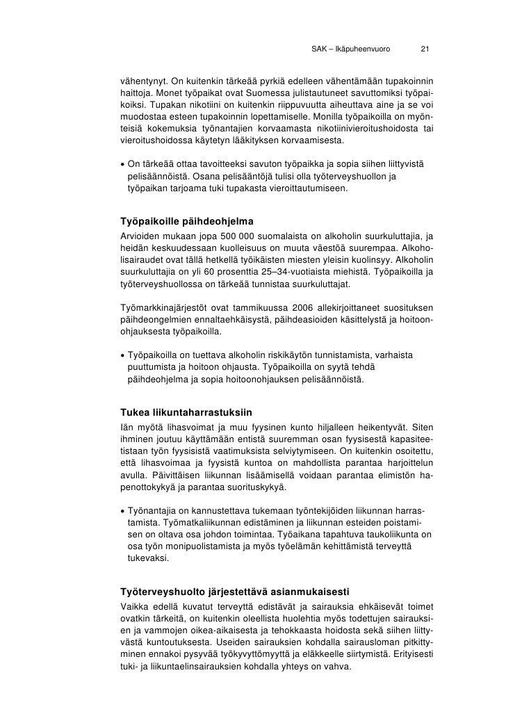 vanheneminen ja terveys Vantaa