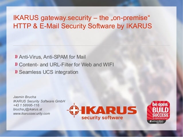 "IKARUS gateway.security – the ""on-premise"" HTTP & E-Mail Security Software by IKARUS Anti-Virus, Anti-SPAM for Mail Conten..."