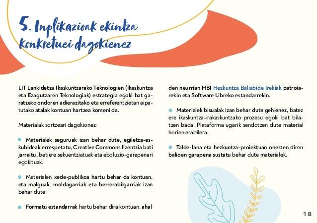 5. Inplikazioak ekintza konkretuei dagokienez LIT Lankidetza Ikaskuntzarako Teknologien (Ikaskuntza eta Ezagutzaren Teknol...
