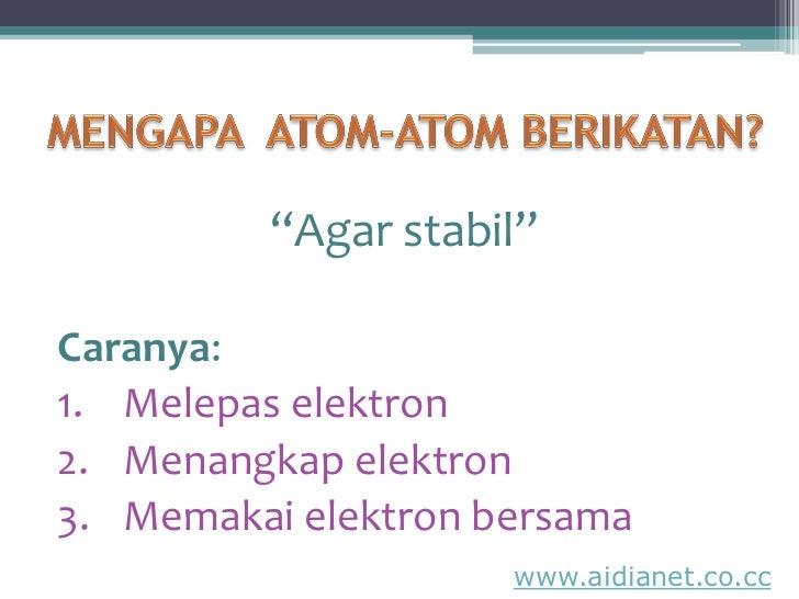 Ikatan Kimia Slide 2