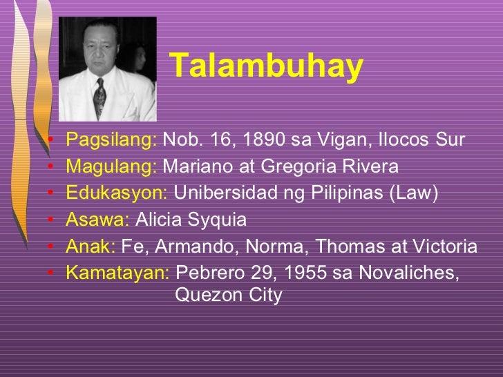 Talambuhay ng mga dating pangulo xxx