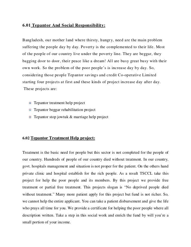 7.03 Conclusion: The opportunity of the competition the thesis on a renowned financial company like Tepantor saving & cred...