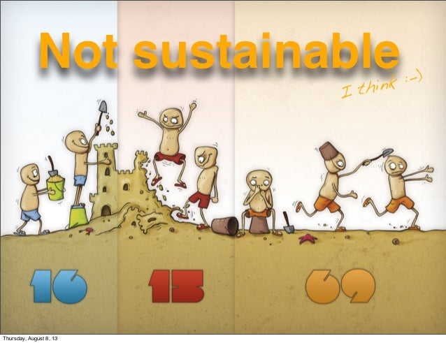 1 Not sustainable I think :-) Thursday, August 8, 13