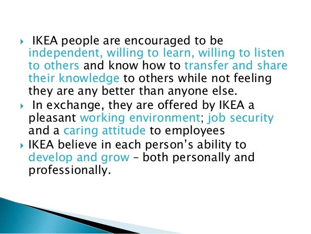 Ikea organizational culture Ikea security jobs