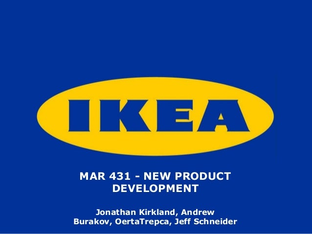 Jonathan Kirkland, AndrewBurakov, OertaTrepca, Jeff SchneiderMAR 431 - NEW PRODUCTDEVELOPMENT