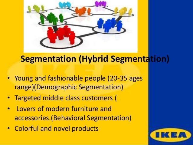 ikea customer segmentation Market segmentation strategy in china helps to identify, evaluate and target potential consumers for each particular market, consumers are divided into segments by different criteria depending on business's needs and nature.