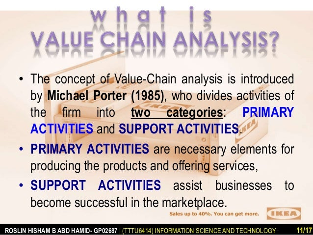 porter s value chain analysis of comcast Michael porter's value chain or in other ways create improvements in its value system value chain analysis has also been successfully used in large.