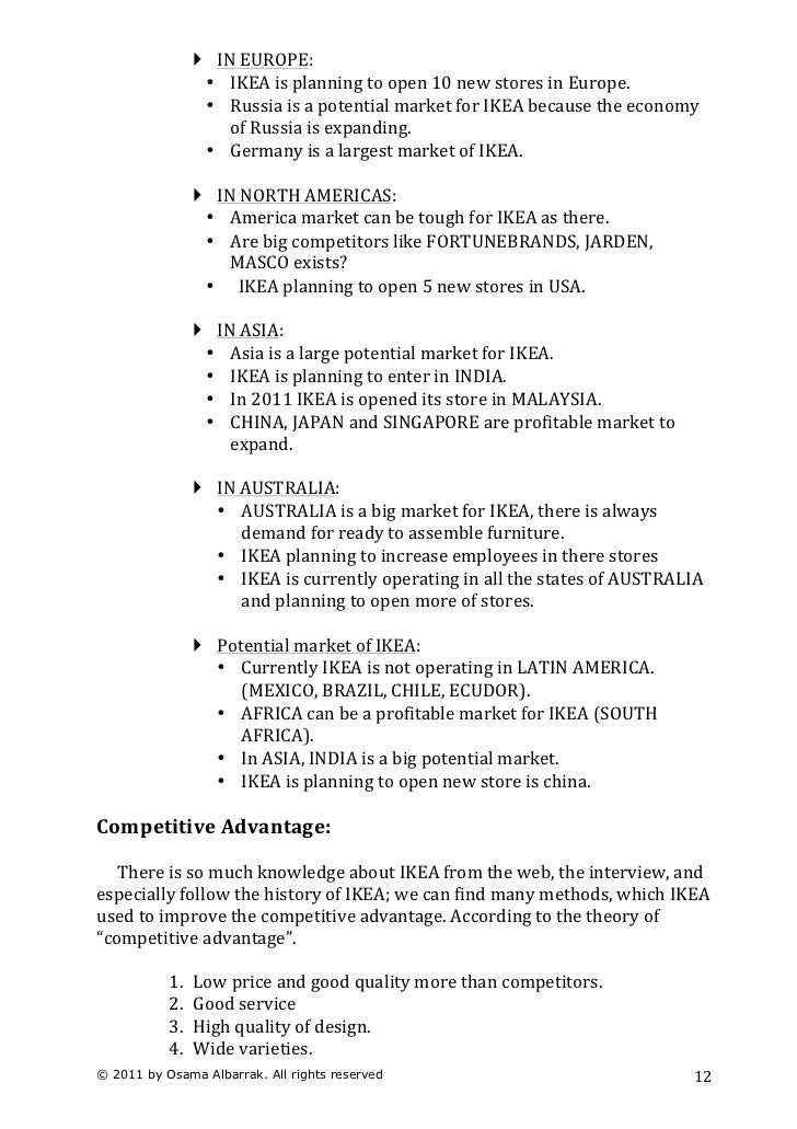 ikeas marketing strategy essay Ikea marketing mix analysis essays: over 180,000 ikea marketing mix analysis essays, ikea marketing mix analysis term papers, ikea marketing mix analysis research paper, book reports 184 990 essays, term and research papers available for unlimited access log in home our services my account order custom.
