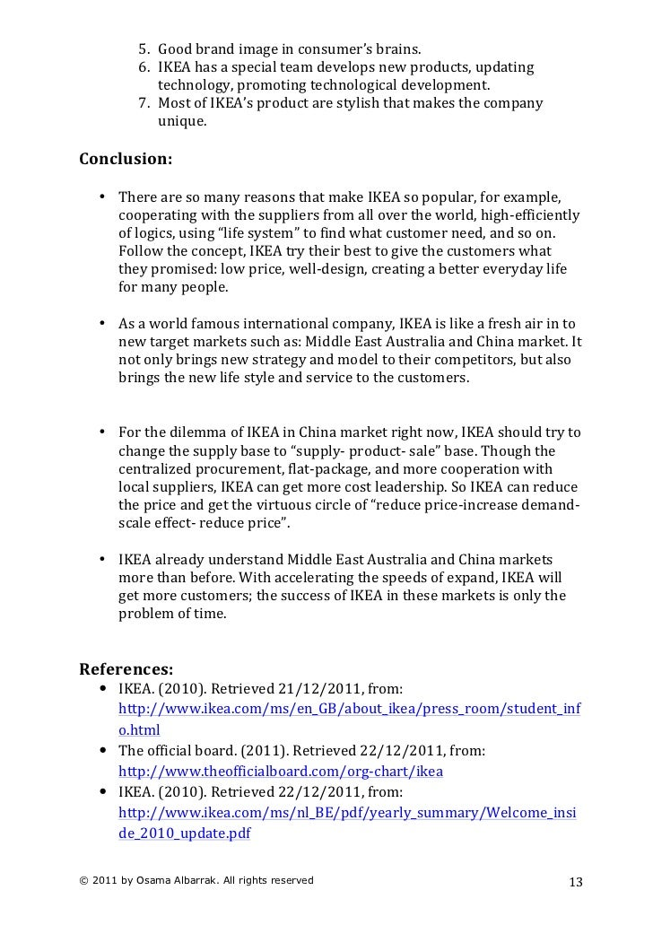 Ikea Case Study Harvard Pdf