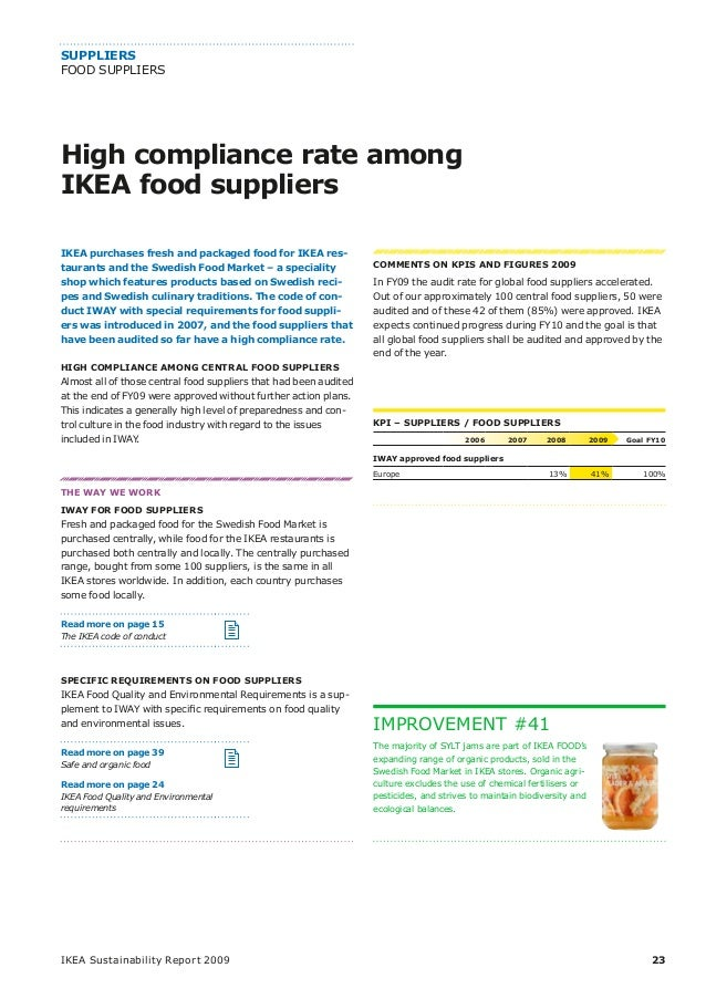 ikea and sustainability Ikea sector: retail country: sweden post navigation » select annual reports choose sector agri building & construction.