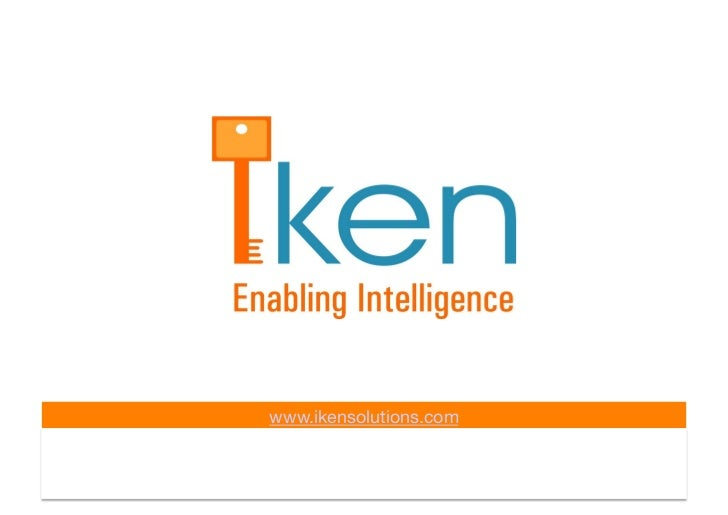 www.ikensolutions.com      CONFIDENTIAL INFORMATION