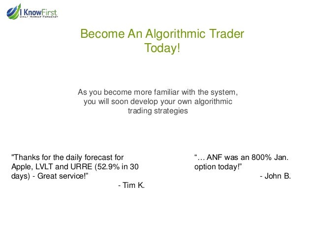 Algo trading strategies
