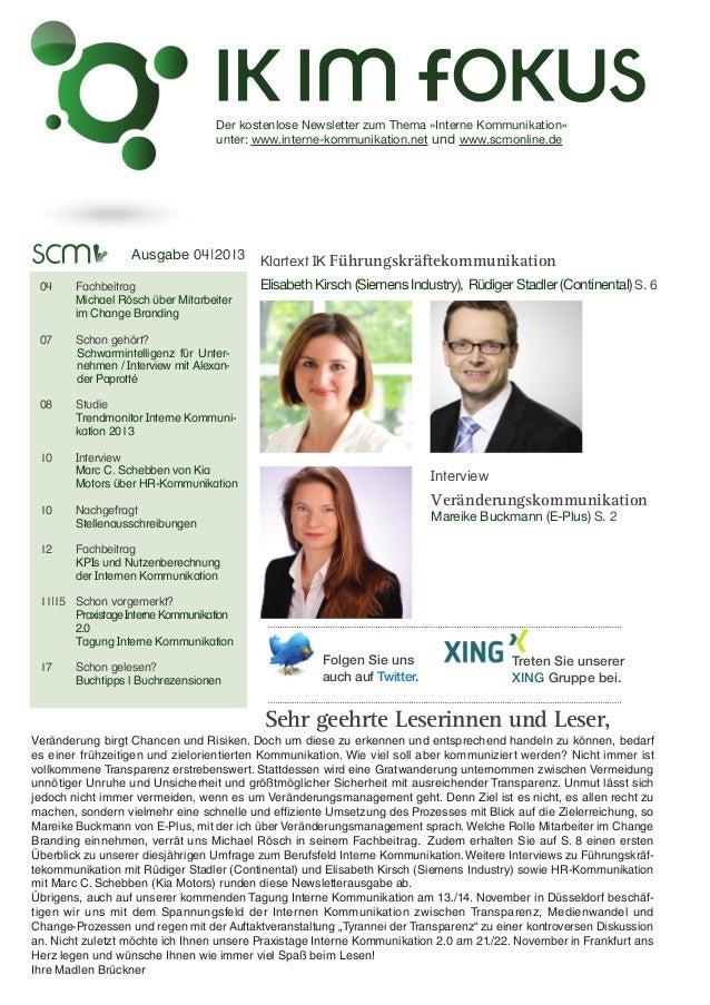Der kostenlose Newsletter zum Thema »Interne Kommunikation«  unter: www.interne-kommunikation.net und www.scmonline.de  ...