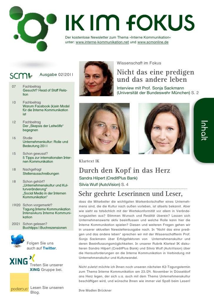 Der kostenlose Newsletter zum Thema »Interne Kommunikation«                                    unter: www.interne-kommunik...