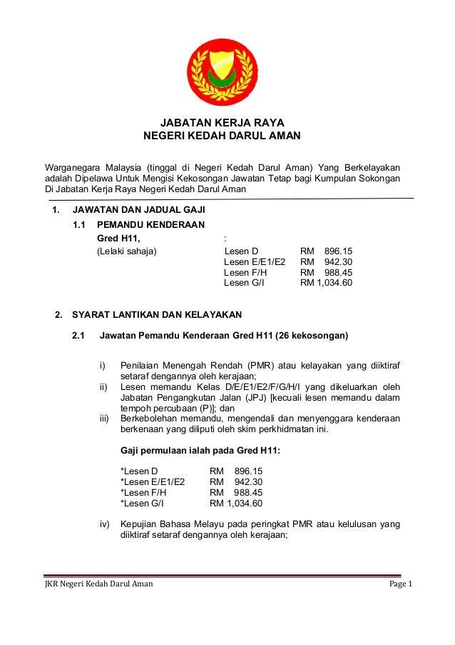 Iklan Jawatan Kosong Jabatan Kerja Raya 2016 Di Kedah