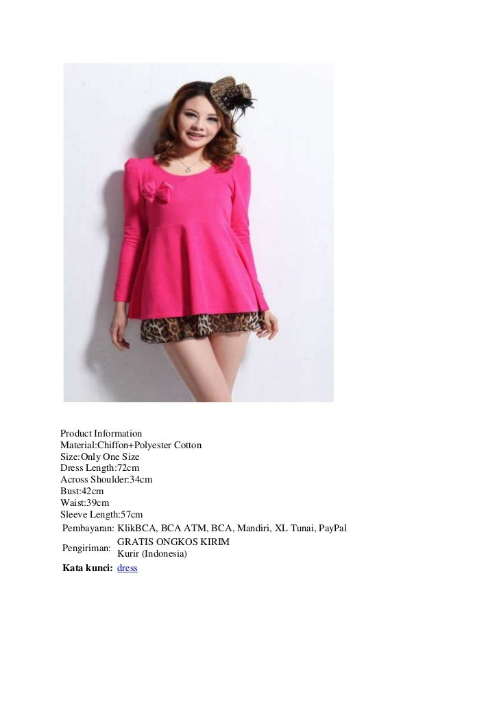 Product InformationMaterial:Chiffon+Polyester CottonSize:Only One SizeDress Length:72cmAcross Shoulder:34cmBust:42cmWaist:...