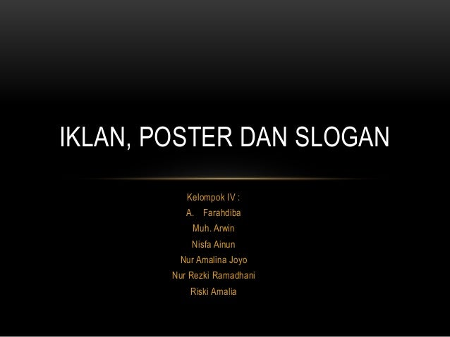 Iklan Poster Dan Slogan
