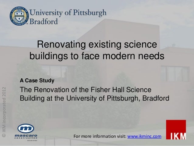 Renovating existing science                             buildings to face modern needs                          A Case Stu...