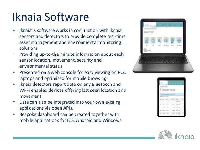 Iknaia Software  • Iknaia' s software works in conjunction with Iknaia  sensors and detectors to provide complete real-tim...