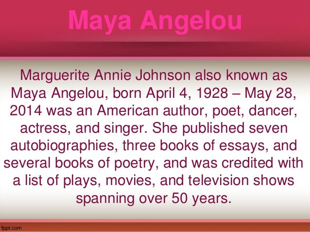 sister flowers by maya angelou thesis statement Thesis statement: maya angelou faces many  and intelligence of ms bertha flowers and in high school maya grows to respect  nbspb) caring sister.