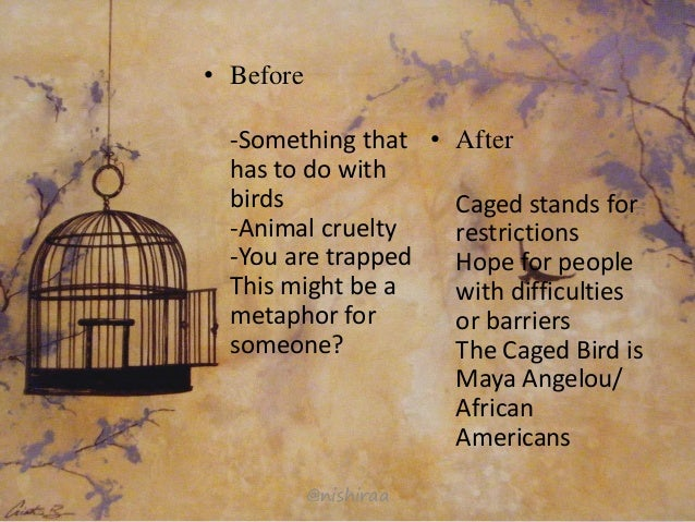 the element of language in i know why the caged bird sings by maya angelou Background of the poet name maya angelou born 4 april 1928 st louis, missouri i know why the caged bird sings writing task identify the elements in the poem and write about the following: 1.