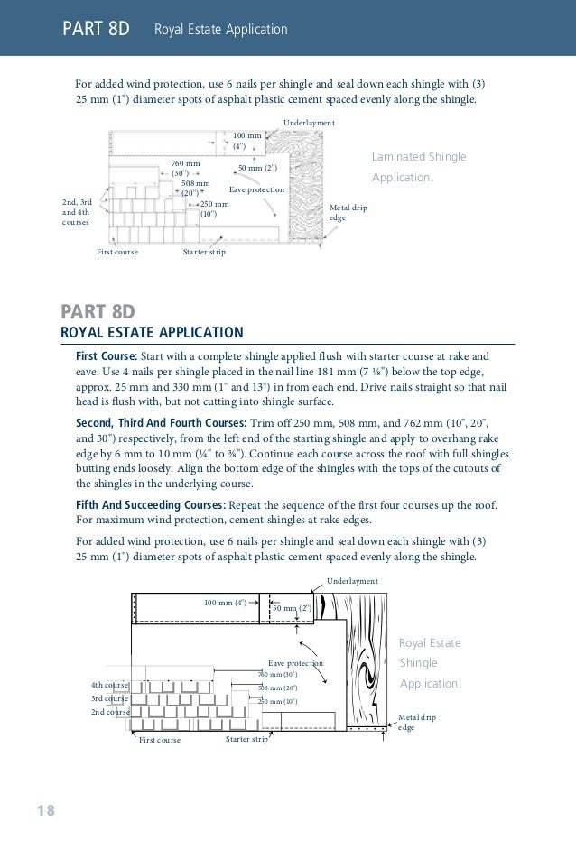Part 8E Marathon Application There are several approved offset methods for applying 3-Tab shingles. Half Tab Method There ...