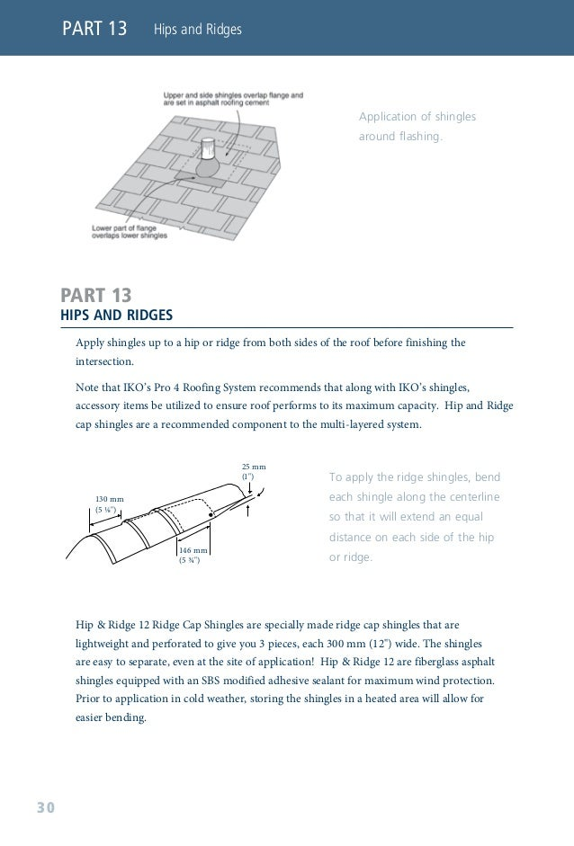 """Ridge cap shingles may be applied in a traditional """"single"""" dimensional thickness and appearance. To obtain a three-dimens..."""