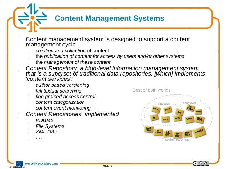 Content Repositories vs Knowledge Bases Slide 3