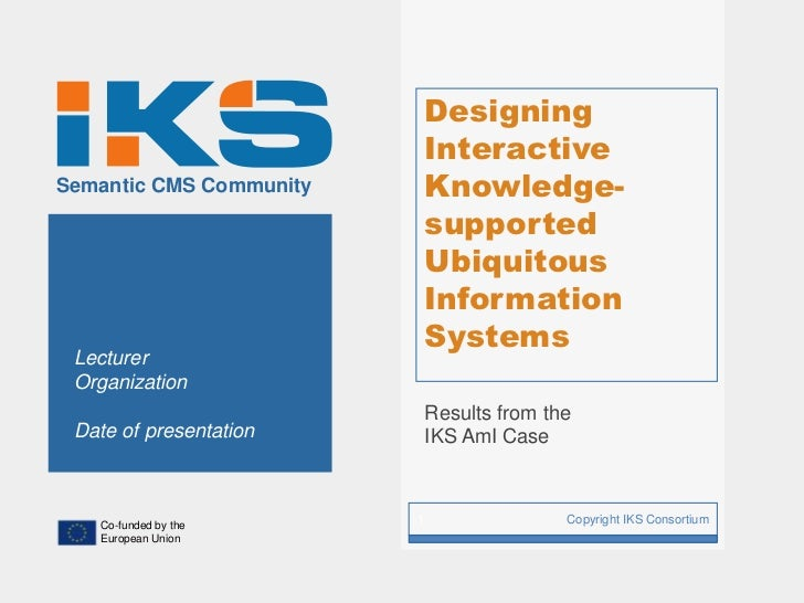 Designing                             InteractiveSemantic CMS Community       Knowledge-                             suppo...